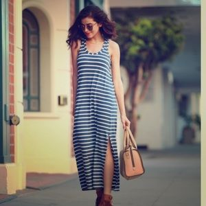 💙J. crew Blue and White Stripe Maxi Dress💙